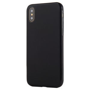SULADA TPU Mobile Case for iPhone XS / X 5.8 inch Built-in Magnetic Holder Metal Sheet - Black