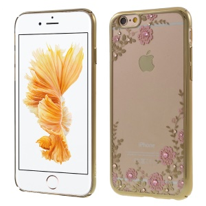 KAVARO Floret Swarovski Gold Plated Hard Cover for iPhone 6s 6 - Pink