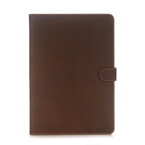 Retro Matte Flip Stand Smart Leather Tablet Cover for iPad Pro 10.5-inch (2017) - Coffee
