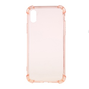 Drop-Proof See-through TPU Gel Case Cover  for iPhone X 5.8 inch - Rose Gold
