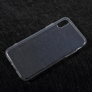 For iPhone X 5.8 inch Clear TPU Case Cover with Non-slip Inner - Transparent