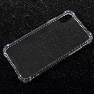 Drop-Proof Clear Acrylic Back + TPU Edge Hybrid Case for iPhone X/XS 5.8inch - Transparent