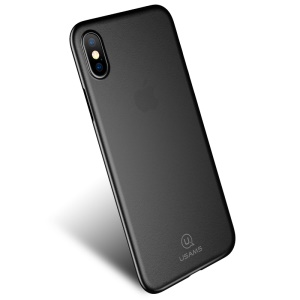 USAMS Soft Series Ultra Slim Matte Skin PP Phone Case for iPhone X 5.8 inch - Black