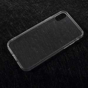 Clear Acrylic Back + Soft TPU Edge Hybrid Case for iPhone X 5.8 inch - Transparent