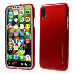 MERCURY GOOSPERY i JELLY Metallic Soft TPU Case for Apple iPhone XS / X/Ten 5.8 inch - Red