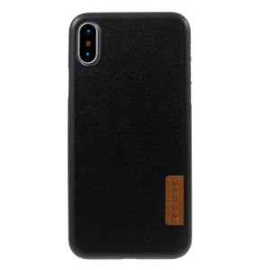 G-CASE Leather Coated PC Back Casing Cover for iPhone X 5.8 inch - Lambskin Texture