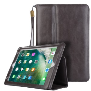 Auto Wake Up/Sleep Wallet Flip Stand Leather Cover for iPad 9.7 inch (2018) / 9.7-inch (2017) / Air 2 / Air - Grey