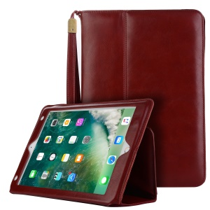 Auto Wake Up/Sleep Wallet Leather Shell with Stand for iPad 9.7 inch (2018) / 9.7-inch (2017) / Air 2 / Air - Wine Red