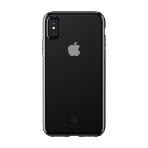 BASEUS Simple Series Clear TPU Shell for iPhone XS / X 5.8 inch - Black