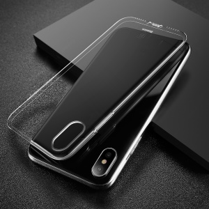 BASEUS Simple Series Clear TPU Phone Cover with Dust Plug for iPhone XS / X 5.8 inch - Transparent