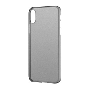 BASEUS Ultra Thin Matte PP Phone Case for iPhone X 5.8 inch - Transparent Black