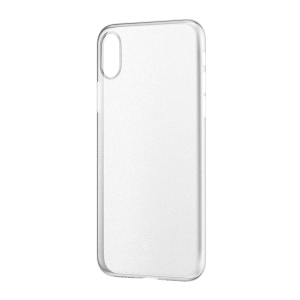 BASEUS Ultra Thin Frosted Surface PP Cell Phone Cover for iPhone X 5.8 inch - Transparent