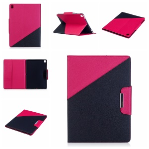Bi-color Auto Wake & Sleep Wallet Leather Stand Tablet Case for iPad Pro 9.7 inch (2016) - Rose / Black
