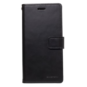 MERCURY GOOSPERY Blue Moon para iPhone X 5.8 inch Stand Leather Wallet Mobile Phone Shell - negro
