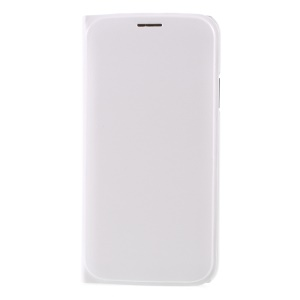 PU Leather Card Slot Flip Mobile Cover for iPhone X (Ten) - White
