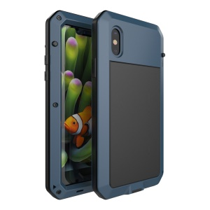 Shockproof Drop-proof Dust-proof Aluminium Alloy Defender Mobile Cover for iPhone X 5.8 inch - Dark Blue