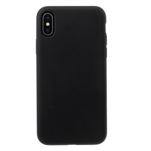 MUTURAL Soft Liquid Silicone Case for iPhone X (Ten) - Black