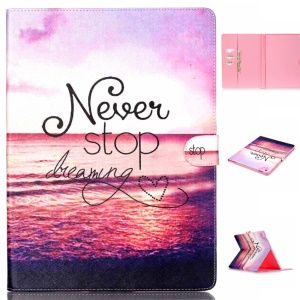 Magnetic Leather Stand Cover for iPad Pro 12.9 inch - Quote Never Stop Dreaming