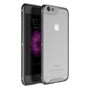 IPAKY Yuyan Series Plated PC Bumper + Clear TPU Hybrid Case for iPhone 6s 6 4.7 inch - Black