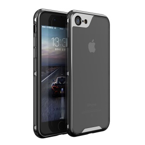 IPAKY Yuyan Series Plated PC Frame + Clear TPU Phone Cover para iPhone 8 / 7 4.7 polegadas - negro