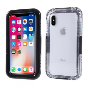 IP68 Waterproof Snow-proof Dirt-proof Case for iPhone X/XS 5.8 inch - Black