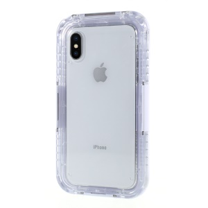 Snow-proof Dirt-proof IP68 Waterproof Case for iPhone X/XS 5.8 inch - White