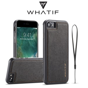 WF DIY Waterproof Paper TPU + PC Hybrid Mobile Phone Case Accessory para iPhone 8 / 7 4.7 polegadas - negro