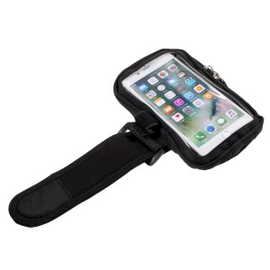 Dual Zipper Sports Running Armband with Adjustable Velcro Closure for iPhone 8 Plus/Samsung Galaxy J7 (2017) etc