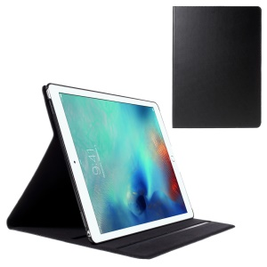 DOORMOON Genuine Leather Smart Flip Case for iPad Pro 12.9-inch - Black