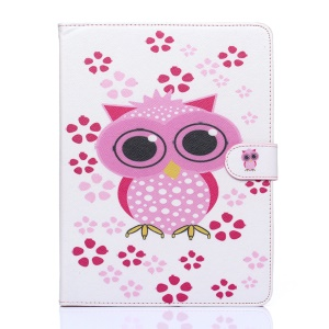 Flip Wallet Leather Stand Case for iPad 2/3/4 - Adorable Owl