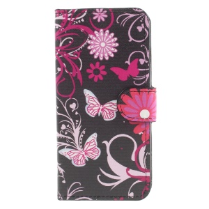 Pink Butterfly ans Flower