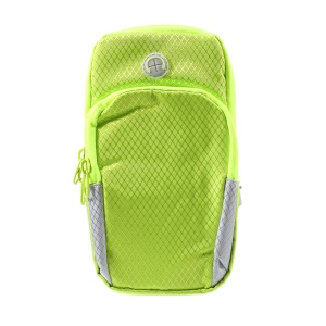 Large Capacity Outdoors Sports Armband Zipper Bag with Earphone Hole for iPhone 8 Plus/7 Plus etc. - Green