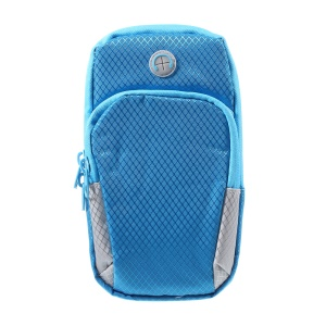 Multi-functional Lightweight Outdoors Sports Armband Zipper Bag for iPhone 8 Plus/7 Plus etc. - Blue