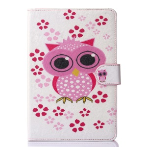 Leather Wallet Stand Shell for iPad Mini 3/2/1 - Adorable Owl