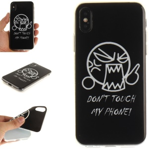 Patterned IMD TPU Back Phone Case Shell for iPhone X/XS 5.8(Ten) 5.8 inch - Do Not Touch My Phone