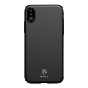 BASEUS Ultra-thin Matte Finish Hard Plastic Case for iPhone X - Black