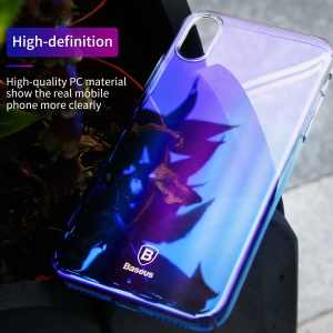BASEUS Glaze PC Hard Cover for iPhone X / Ten 5.8 inch - Blue