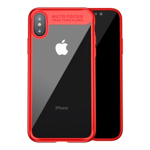 BASEUS Suthin Slim TPU + PC Hybrid Phone Shell para iPhone X - vermelho