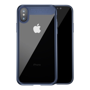 BASEUS Suthin Slim TPU + PC Hybrid Cover Case for iPhone X - Blue