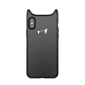 BASEUS Devil Face Soft Silicone Case Cover for iPhone XS / X 5.8 inch - Black