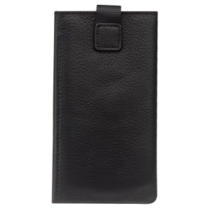 QIALINO Cowhide Leather Pouch Wallet Phone Case for iPhone X - Black