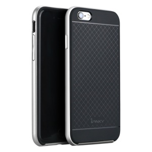 IPAKY Hybrid 2-Piece PC + TPU Cover for iPhone 6s 6 4.7 - Black