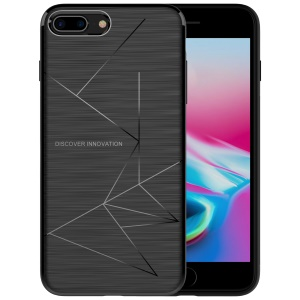 NILLKIN Magic Case for iPhone 8 Plus Soft TPU Qi Wireless Charging Receiver TPU Back Case - Black