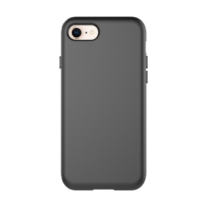 Flexible Silicone Shock Absorption Mobile Phone Case Accessory for iPhone 8 / 7 4.7 inch - Black