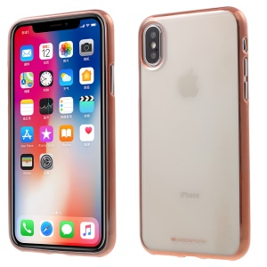 MERCURY GOOSPERY Ring 2 Case  for iPhone XS / X 5.8 inch Electroplating TPU Clear Case - Rose Gold