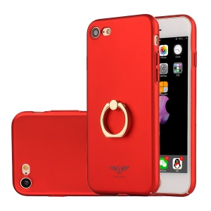 KAKUSIGA Ring Holder Kickstand Hard PC Back Case for iPhone 8 / 7 4.7 inch - Red