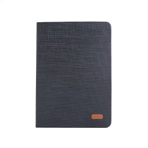 KAKUSIGA Luoxi Series Cloth Texture Leather Stand Case for iPad 9.7 (2018)/9.7 (2017)/Pro 9.7 inch/Air 2/Air - Black