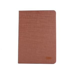 KAKUSIGA Luoxi Series Cloth Texture Leather Stand Cover for iPad 9.7 (2018)/9.7 (2017)/Pro 9.7 inch/Air 2/Air - Brown