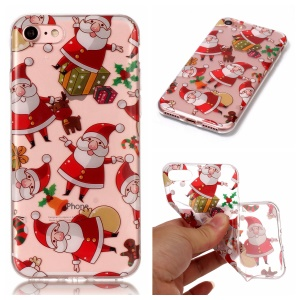 Christmas Series IML Soft TPU Back Phone Shell for iPhone 8 / 7 4.7 inch - Santa Clause