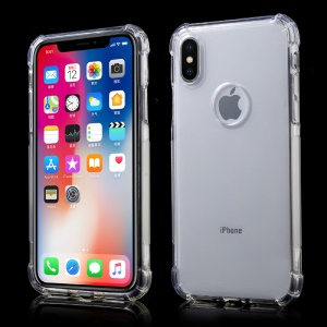 Crystal Clear Shockproof TPU Gel Case Mobile Phone Case for iPhone XS / X 5.8 inch